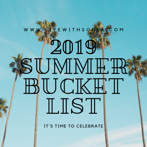 2019 Summer Bucket List